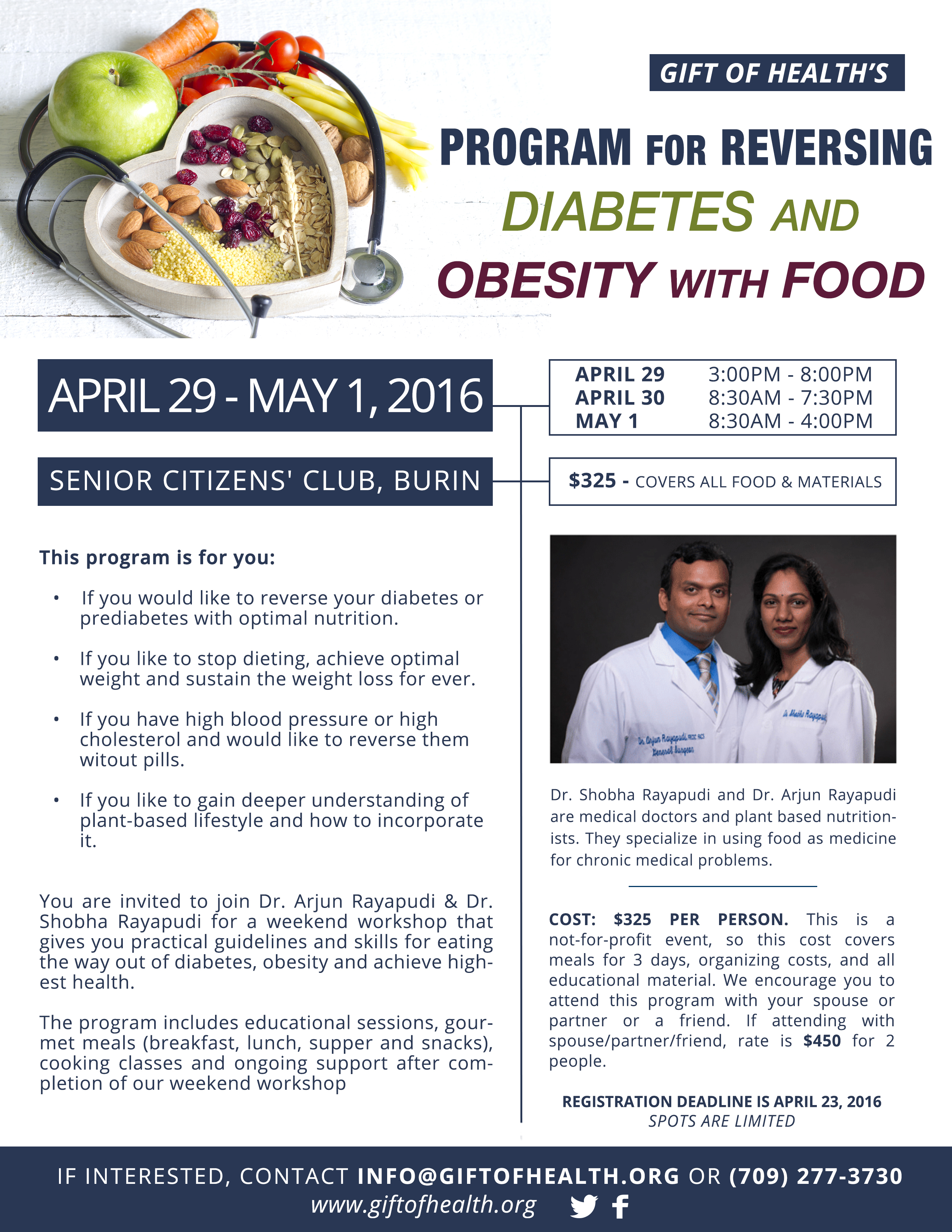 Program for Reversing Diabetes & Obesity with Food